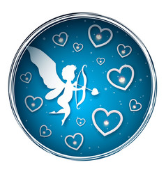cupid characters paper valentine day vector image