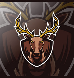 deer mascot esport logo vector image