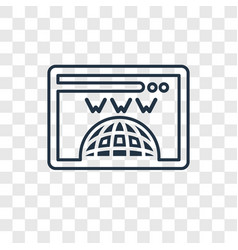Domain registration concept linear icon isolated vector