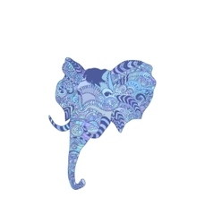 doodle indian elephant vector image