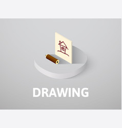 drawing isometric icon isolated on color vector image