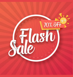 flash sale poster with sunburs vector image