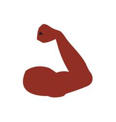 Flexed arm icon vector