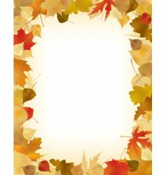 Foliage frame vector