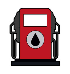 Gas pump oil industry related icon image vector