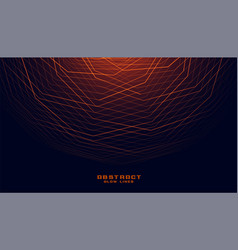 glowing abstract geometric lines in curve style vector image