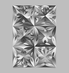 Gray geometrical floral triangle flyer - grey vector