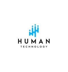 h logo vector image