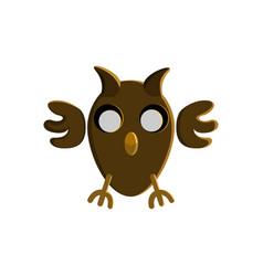 halloween owl character design vector image