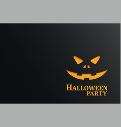 halloween party invitation with pumpkin in dark vector image