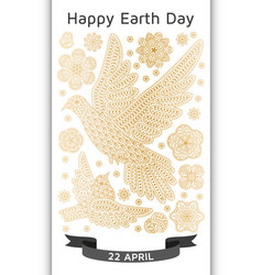 happy earth day background good design template vector image