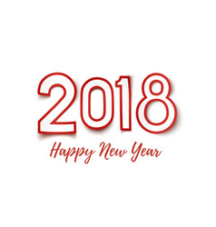happy new year 2018 template for greeting card vector image vector image