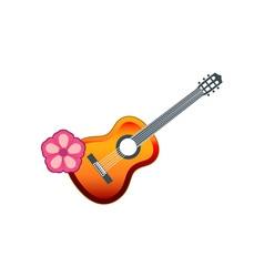 hawaiian-guitar vector image