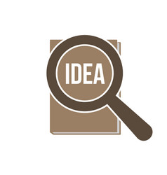 Idea word magnifying glass vector