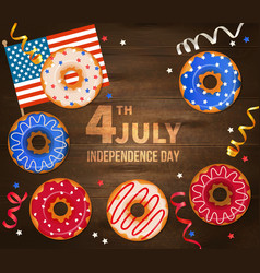 independence day wooden vector image