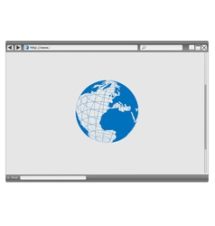 internet web browser vector image