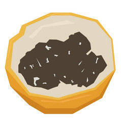 Isolated cut passion fruit vector