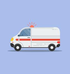 isolated flat ambulance icon vector image