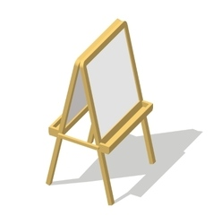 Isometric easel Drawing Whiteboard Paint desk vector