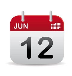 june calendar stand up vector image