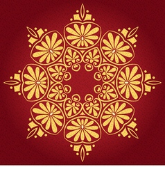 lace gold ornament vector image