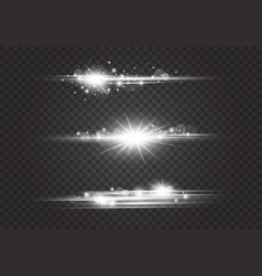 lens flares and lighting effects vector image