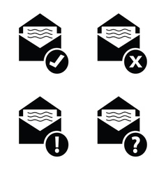 Letter envelope black vector
