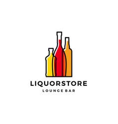 Liquor store shop cafe beer wine logo icon vector