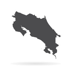 map costa rica isolated vector image