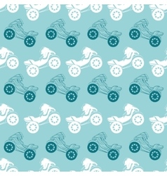 Motorcycles Blue Brown Stripes Seamless vector image