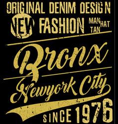 newyork city typography slogan t-shirt graphics vector image