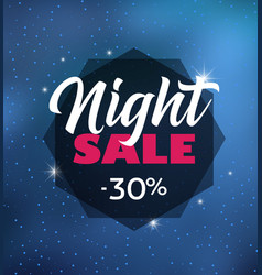 Night sale dark banner vector