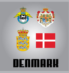 Official government elements of denmark vector