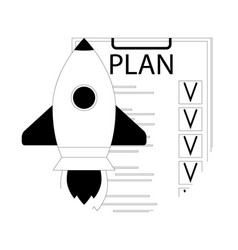 plan checklist for launch startup vector image