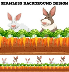 Rabbits and carrot farm vector image
