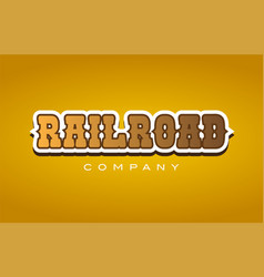 Railroad rail road western style word text logo vector