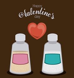 Romantic design vector image