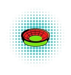 Round stadium icon comics style vector