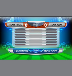 Scoreboard of sport vector