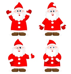 Set with happy Santas vector image