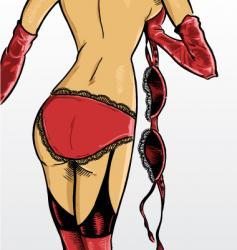 Sexy underwear model vector