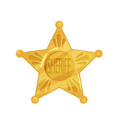 Sheriff s icon shape of five-pointed star in vector