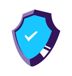 shield isometric icon isolated vector image