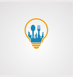 smart city food logo concept icon element and vector image