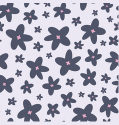 spring flowers repeat pattern pattern vector image