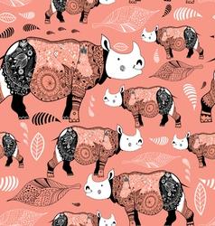 Stok patterned rhinos vector