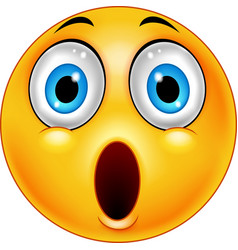 surprised emoticon smiley vector image