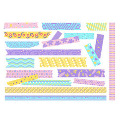 Textured patterned scotch tape with creative vector