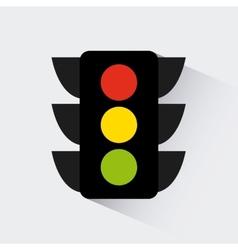 Traffic light design vector