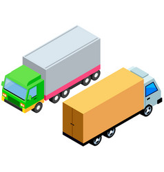 vehicle for transportation and shipping delivery vector image